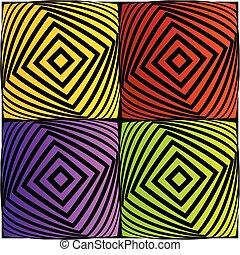 coloridos, ilusão óptica