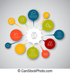 coloridos, infographic, timeline, relatório, modelo, com,...