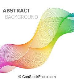 coloridos, linha, onda, abstratos, fundo