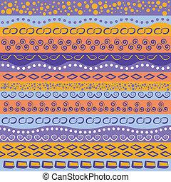 coloridos, listra, padrão