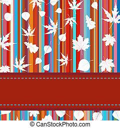 coloridos, &, listras, eps, 8, leaves., maple