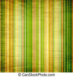 coloridos, listras, fundo amarelo, verde, branca