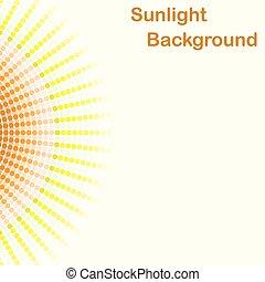 coloridos, luz solar, fundo