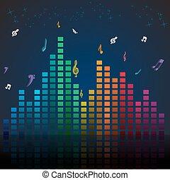 coloridos, música, cartão