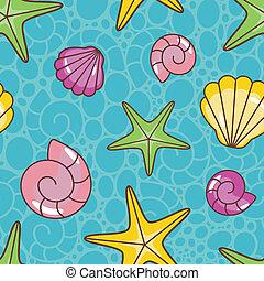 coloridos, mar, padrão