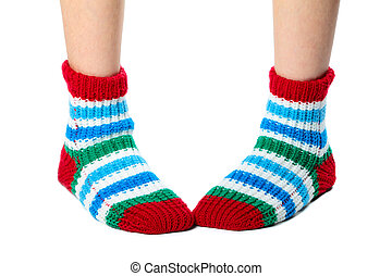 coloridos, meias