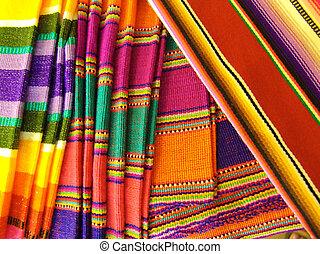 coloridos, mexicano, cobertores
