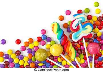 coloridos, misturado, doces