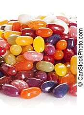 coloridos, misturado, fruity, coagule feijões
