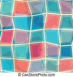 coloridos, mosaico, seamless, padrão