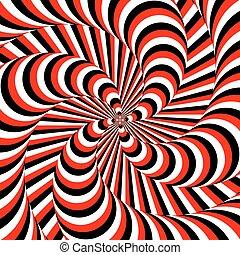 coloridos, movimento, desenho, fundo, ilusão, whirlpool