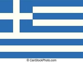 coloridos, nacional, luminoso, ilustração, bandeira, vetorial, greece.
