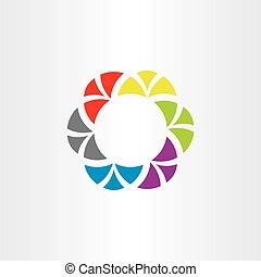 coloridos, negócio, símbolo, elemento, vetorial, tech, logotipo, círculo, abstratos