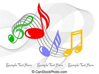 coloridos, notas música