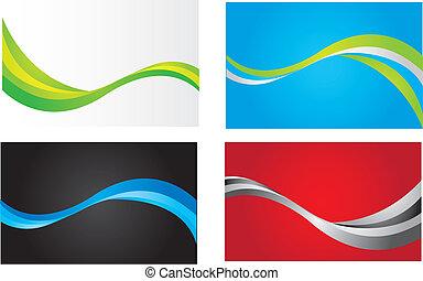 coloridos, ondas