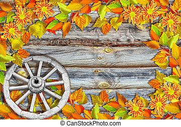 coloridos, outono, luminoso, indianas, foliage., summer., paisagem