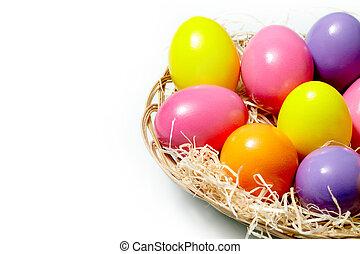 coloridos, ovos