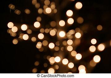 coloridos, padrão, lights., mágico, decoração, luzes, blurry