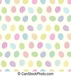 coloridos, padrão, ovos, proposta, branca, páscoa