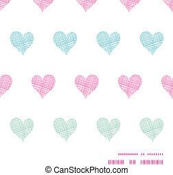 coloridos, padrão, quadro, polca, seamless, têxtil, fundo, corações, horizontais, ponto