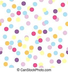 coloridos, padrão, seamless, vetorial, confetti, partido