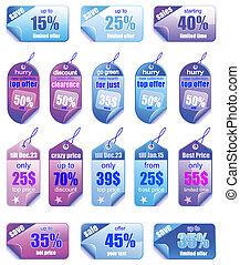 coloridos, preço, etiquetas, vendas, promocional, natal