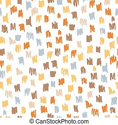 coloridos, rabisco, seamless, modernos, vetorial, trendy, sujo, pattern., illustration., tinta