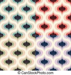 coloridos, século, papel parede, pattern., meio, textura, ...