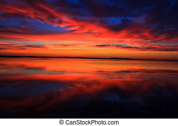coloridos, stunningly, amanhecer