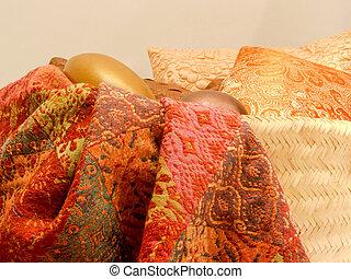coloridos, tecido