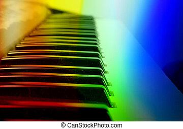 coloridos, teclado, fundo