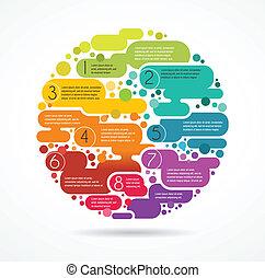 coloridos, texto, abstratos, espaço, fundo, infographics
