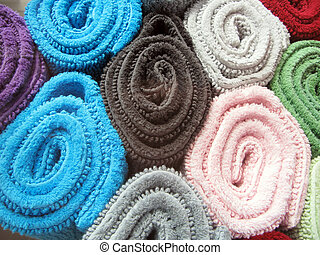coloridos, toalhas