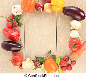 coloridos, vegetal, quadro