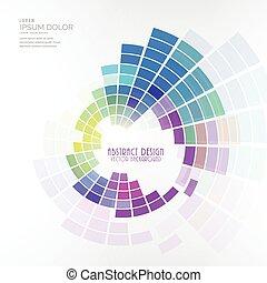 coloridos, vetorial, desenho, fundo, mosaico, circular