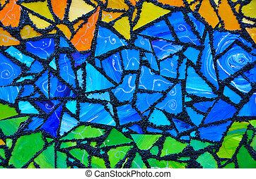 coloridos, vidro manchado, abstratos