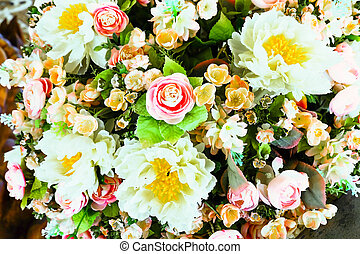 coloridos, vindima, foco, fundo, flores