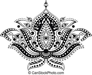 coloring adult ethnic flower