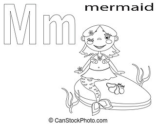 Coloring Alphabet for Kids, M