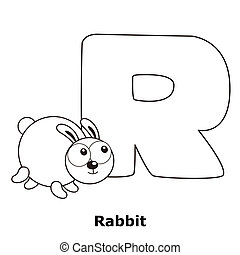 Coloring Alphabet for Kids, R