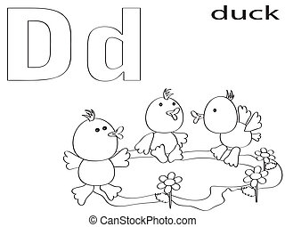 Coloring Alphabet for Kids,D
