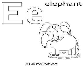 Coloring Alphabet for Kids,E