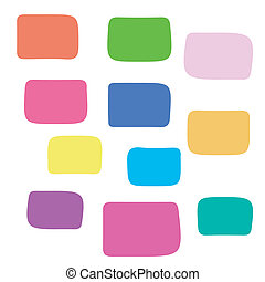 coloring background with square blocks - Beautiful abstract...