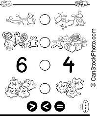 coloring, betydelig, lille, equal, boldspil, bog, eller