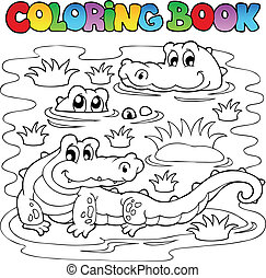 coloring bible, krokodýl, podoba, 1