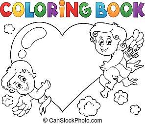 coloring bog, cupid