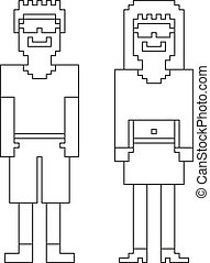 Coloring book - 2 isolated 8bit (pi