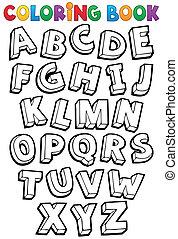 Coloring book alphabet theme 1