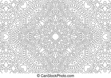 Coloring book art with smiling stars and hearts - Beautiful ...