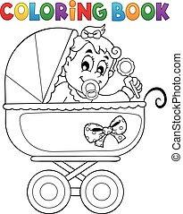 Coloring book baby theme image 4